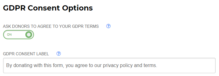 Enable GDPR